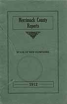 Thumbnail image of Merrimack County Commissioners 1912 Report cover