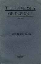 Thumbnail image of University of Dubuque 1922-1923 Catalog cover