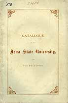 Thumbnail image of Iowa State University 1874-5 Catalogue cover