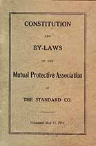 Thumbnail image of Standard Co. Mutual Protective Association 1914 By-Laws cover