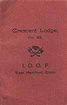 Thumbnail image of Crescent Lodge, No. 25 I. O. O. F. 1910 By-Laws cover