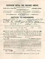 Thumbnail image of Independent Mutual Fire Insurance Company 1907 Notice cover