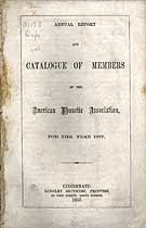 Thumbnail image of American Phonetic Association 1857 Catalogue cover