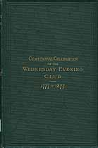 Thumbnail image of Wednesday Evening Club 1877 Centennial cover