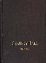 Thumbnail image of Chauncy-Hall School 1892-93 Catalogue cover