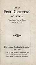 Thumbnail image of Indiana Fruit Growers 1906-1907 cover