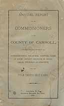 Thumbnail image of Carroll County Commissioners 1884 Report cover
