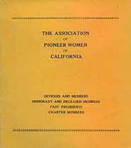 Thumbnail image of California Pioneer Women Association 1926 Roster cover