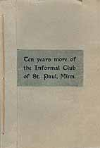 Thumbnail image of St. Paul Informal Club 1904-1914 Reports cover