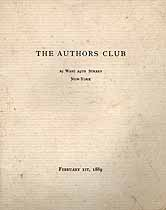 Thumbnail image of The Author's Club 1889 Year Book cover