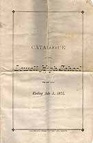 Thumbnail image of Lowell High School 1874 Catalogue cover