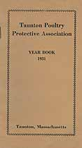 Thumbnail image of Taunton Poultry Protective Association 1931 Year Book cover