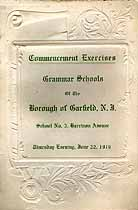 Thumbnail image of Garfield Grammar Schools 1916 Commencement cover