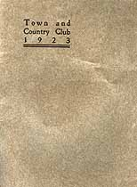 Thumbnail image of Town and Country Club 1923 cover