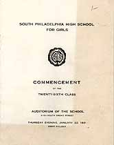 Thumbnail image of S. Philadelphia High Sch. for Girls 1931 Commencement cover