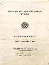 Thumbnail image of S. Philadelphia High Sch. for Girls 1931 (June) Commencement cover