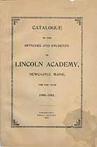 Thumbnail image of Lincoln Academy 1900-1901 Catalogue cover