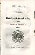 Thumbnail image of Maryland Historical Society 1850 Report cover