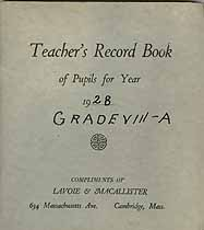 Thumbnail image of Unknown School, Teacher's Record Book, 1928, Grade VIII-A cover