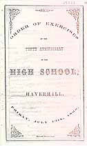 Thumbnail image of Haverhill High School 1866 Commencement cover