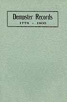 Thumbnail image of Dempster Records 1778-1803 cover