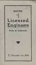 Thumbnail image of Colorado Licensed Engineers 1920 Roster cover