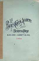 Thumbnail image of Buie's Creek Academy and Business College 1908 Catalogue cover