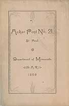 Thumbnail image of GAR Department of Minnesota 1888 Roster, Acker Post 21 cover