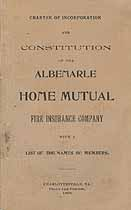 Thumbnail image of Albemarle Home Mutual Fire Insurance Company 1898 Report cover