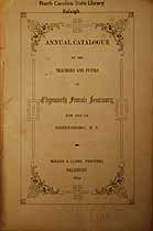 Thumbnail image of Edgeworth Female Seminary 1853-54 Catalogue cover