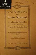 Thumbnail image of Fayetteville Colored Normal and Industrial School 1916-17 Catalogue cover
