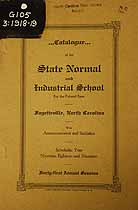 Thumbnail image of Fayetteville Colored Normal and Industrial School 1918-19 Catalogue cover
