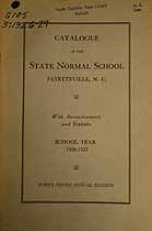 Thumbnail image of Fayetteville Colored Normal and Industrial School 1926-27 Catalogue cover
