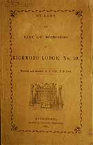 Thumbnail image of Richmond Lodge, No. 10, 1864 By-Laws cover