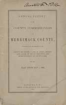 Thumbnail image of Merrimack County Commissioners 1880 Report cover