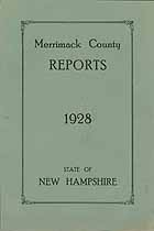 Thumbnail image of Merrimack County Commissioners 1928 Report cover