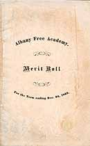 Thumbnail image of Albany Free Academy 1869 Merit Roll cover