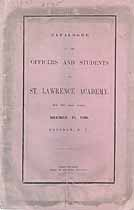 Thumbnail image of St. Lawrence Academy 1846 Catalogue cover