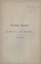 Thumbnail image of Columbia College, School of Mines, 1867-68 cover