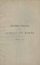 Thumbnail image of Columbia College, School of Mines, 1870-71 cover