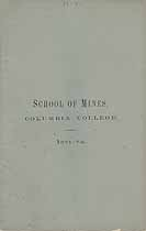 Thumbnail image of Columbia College, School of Mines, 1871-72 cover