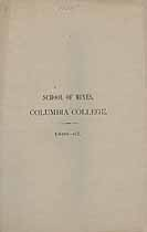 Thumbnail image of Columbia College, School of Mines, 1866-67 cover
