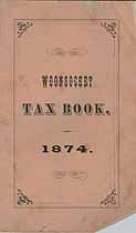 Thumbnail image of Woonsocket 1874 Tax Book cover