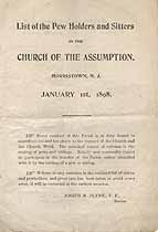 Thumbnail image of Morristown Church of the Assumption 1898 Pew Holders cover