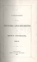 Thumbnail image of Brown University 1850-1 Catalogue cover