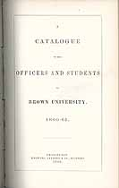 Thumbnail image of Brown University 1860-1 Catalogue cover