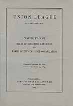Thumbnail image of Union League of Philadelphia 1889 Officers cover