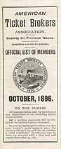 Thumbnail image of American Ticket Brokers Association 1896 Members cover