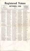 Thumbnail image of Chicago Registered Voters, October, 1932, Ward 40, Precinct 49 cover