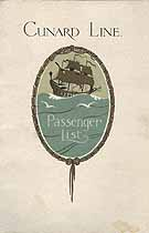 Thumbnail image of RMS Scythia 1928 Souvenir Passenger List (Liverpool to NY) cover